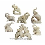 SET OF 7 ELEPHANTS statues