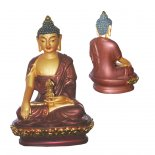 Buddha Akshobhya holding dorje Statue,  