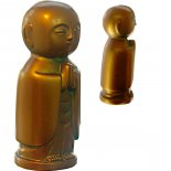 Jizo standing and praying bronze 85mm  Jizo statue Japanese Bodhisattva standing and praying Jizo represents child protection There are many Jizo temples in JapanThi. Please Click the image for more information.