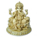 Ganesha sitting on lotus marble/ivory 210mm Ganesha statue sitting in Lotus Please Click the image for more information.