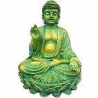Meditating buddha in lotus position blue/gold 210mm Meditating Buddha in lotus position Please Click the image for more information.