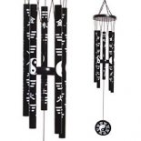 5 rod Yin Yang Black & White Metal Windchime 530mm Large Yin Yang Black  White Metal Windchime  Please Click the image for more information.