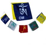 Om Mani Padme Hum flags, set of 10 Om Ma Ni Padme Hum set of 10 flags in one set made from cotton High quality redgreenblueyellow and white All ed. Please Click the image for more information.