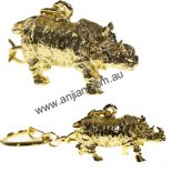 Rhinoceros Keyring, Shiny Gold, Metal, h:  20mm x w:  38mm Rhinoceros Keyring Shiny Gold Metal h  20mm x w  38mm Please Click the image for more information.