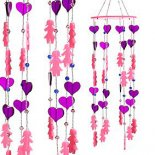 Pink Doll and Purple Heart Mobile with Crystal Drop 510mm Gorgeous  girly mobile Pink dolls and purple hearts with clear crystal drops This mobile throws rainbows when in sunny window. Please Click the image for more information.