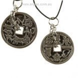 Coin of Protection & Abundance (241) Coin of Protection  Abundance Silver Pendant on black cord Please Click the image for more information.