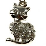 Cat with dimenti Silver Pendant  Little Cat with dimenti Silver Pendant on black cordtwo for one Please Click the image for more information.