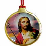 Jesus with Lamb Jesus with Lamb The Good Shepherd Round Coloured Pendant on Red Cord Pack of five Please Click the image for more information.