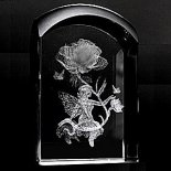 Fairy and flower crystal (241) laser crystal with 3d laser fairy and flower Please Click the image for more information.