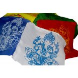 Ganesh flags sec 10 in one set  printed by hand hand made in Nepal These are not hemmed and are cut edge Fraying is a natural part of this product Whi. Please Click the image for more information.