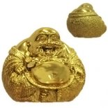 Laughing Buddha paperweight Laughing Buddha Sitting Paperweight ball shape gold Please Click the image for more information.
