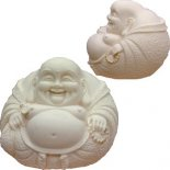 Laughing Buddha paperweight round