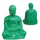 Meditating Buddha in jade finish