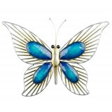 Blue Metal Butterfly Wall Art (large) This gorgeous metal butterfly is the perfect piece to add some colour and unique style to your homeThis wall art is fantastic quality ready to hang and suitable for both indoor and outdoor useAt Tig. Please Click the image for more information.