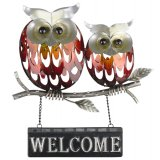 "Metal Owl ""Welcome"" Plaque This gorgeous metal owl welcome plaque is the perfect piece to add some colour and unique style to the entry of your homeTh. Please Click the image for more information."