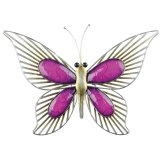 Purple Metal Butterfly Wall Art (small) This gorgeous metal butterfly is the perfect piece to add some colour and unique style to your homeThis wall art is fantastic quality ready to hang and suitable for both indoor and outdoor useAt Tig. Please Click the image for more information.