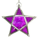 Star Lantern Purple 18cm Brass Star hanging Lantern 18cm dia approx Hand crafted with Stained Glass Inserts Buy today through Tigress Direct and SAVE time and $$$ . Please Click the image for more information.