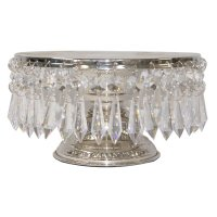 Cake stand 25 cm with dangling crystals Cake stand 25 cm with dangling crystals nickel plated  Please Click the image for more information.