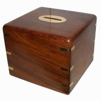Money box square Money box square with brass corners   Please Click the image for more information.