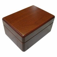 Rectangular box with beige felt lining Rectangular box with beige felt lining  The box is made of MDF with a teak vaneer and has a very good finish . Please Click the image for more information.