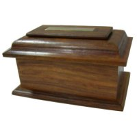 Box shaped like a coffin Box shaped like a coffin with natural wood finish  This box has a bottom opening for ashes Please Click the image for more information.