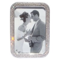 Photo frame with clear crystals Zinc alloy photo frame with clear crystals Please Click the image for more information.