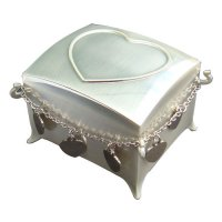 Jewellery box with heart pendent, Jewellery box with heart pendent brushed silver plated zinc alloy Please Click the image for more information.
