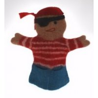 Pirate fair trade felt hand puppet Bright colourful and fun  Soft and cuddly  Handmade and fair trade felt puppets from Nepal  A great toy to stimulate a childs imagination and provide hours of fun of creative play. Please Click the image for more information.