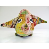 Multi coloured Piggy Hadmade pure cotton soft cuddly pig made from recycled saris Fair trade Please Click the image for more information.