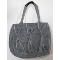 Grey recycled net shoulder bag Recycled net shoulder bag designed by Smarteria in Cambodia  Stylish and different  Fair trade Please Click the image for more information.