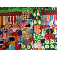 Large Market Arpillera Wall Hanging These vibrant textiles are hand made by Peruvian women   There is so much to look at  Arpillera depict scenes from daily life   . Please Click the image for more information.