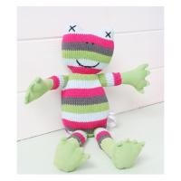 Hand knitted Maggie Mae the frog 100 cotton hand knitted Maggie Mae the Frog Add a touch of nostalgia to any girls roomComes with a matching knitted drawstring bag Please Click the image for more information.