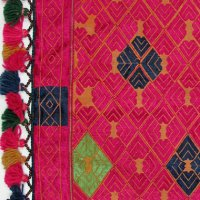 Vibrant Tassle Pashtun Cushion Pashtun cushion cover from the Swat Valley Pakistan Hand stitched silk on cotton ground fabric This beautiful fine embroidery is counted thread embroidery leading to fine geometric designs Th. Please Click the image for more information.