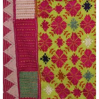 Yellow and Pink Pashtun Cushion Pashtun cushion cover from the Swat Valley Pakistan Hand stitched silk on cotton ground fabric This beautiful fine embroidery is counted thread embroidery leading to fine geometric designs Th. Please Click the image for more information.