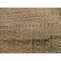 Vintage gold metal thread paisley cloth Vintage gold metal thread brocade cloth with paisley design  Could be used as a throw or wall hanging. Please Click the image for more information.