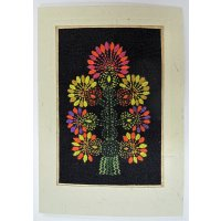Embroidered card: Black Tree of Life These beautiful cards are hand stitched by women from West Bengal in IndiaNot only can they be used as cards but they are also beautiful framed as textile art pieces  A c. Please Click the image for more information.