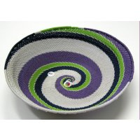 Telephone Wire Bowl These wonderful bright and vibrant bowls are froom a weaving collective in South Africa  The bowls are made of recycled telephone wire which have been beautifully woven togetherT. Please Click the image for more information.