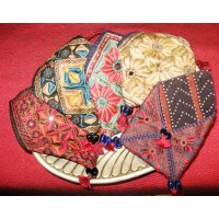 Embroidered  Pouch with cord wrap Hand embroidered cotton  envelope pouch from Gujarat India  The bag is hand embroidered in silk thread and some incorporate small mirrors  . Please Click the image for more information.