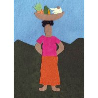 Fruity Hat Handmade and fair trade greeting card made from recycled paper in Rwanda Please Click the image for more information.