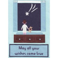 Wish Upon A Star Boy Handmade and fair trade greeting card made from recycled paper in Rwanda Please Click the image for more information.