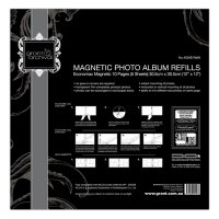 Magnetic Photo Album Refills  Economax Magnetic Refill Pages10 Pages 5 SheetsPage Size  305cm x 305cm 12 x 12Laboratory Certified and Archival Quality Please Click the image for more information.