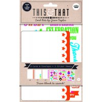 THis & That - Neon assorted cards The This and That Neon card set by Grace Taylor provides you with all the bits and pieces to create personalised cards in a way thats simple    . Please Click the image for more information.