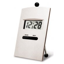 Monitor Desk Alarm Clock Metal desk clock with rear chrome stand LCD display showing time date and alarmSize 63 x 14 x 102mm  146gVery high quality clock with great print areas for logosWe have 53 a. Please Click the image for more information.
