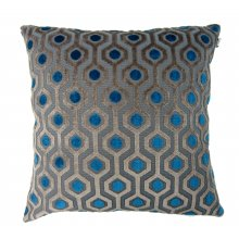 Salazar Geo Cushion Blue  Please Click the image for more information.
