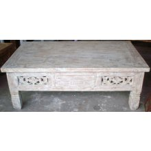 PE 4738 Handcarved Whitewash Coffee Table PE 4738 Handcarved Whitewash Coffee Table Please Click the image for more information.