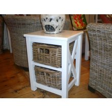 IS 5830  2  Drawer Side Table with rattan baskets IS 2  Drawer Side Table with rattan baskets  Please Click the image for more information.