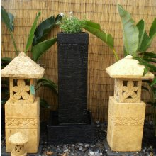 MA 5976 Balinese Stone Water Feature,with Plant tray at top MA 5976 Balinese Stone Water Feature with Plant tray at top Please Click the image for more information.
