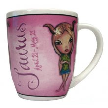 MUG - TAURUS These colourful mugs feature a funky character that cleverly represents each of the astrological signs. Please Click the image for more information.