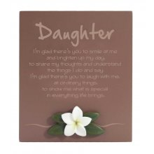 Lush Poem - DAUGHTER DAUGHTER Inspirational timber plaqueThe plaque has a frangipani motif mounted to the bottom of the plaqueThis . Please Click the image for more information.