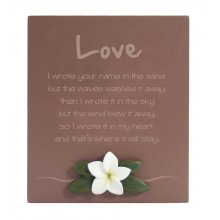 Lush Poem - LOVE LOVE Inspirational timber plaqueThe plaque has a frangipani motif mounted to the bottom of the plaqueThis . Please Click the image for more information.